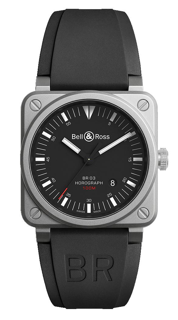 Bell & Ross Instruments BR0392-HOR-BLC/SRB